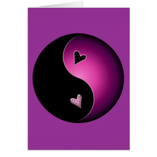 pink yin yang card