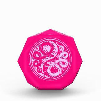 Pink Yin Yang Chinese Dragons Awards