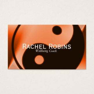 Pink yin yang health and wellbeing business card