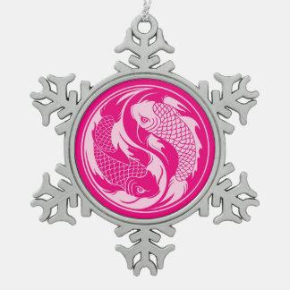 Pink Yin Yang Koi Fish Ornaments