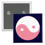 Pink Yin-Yang Symbol Button
