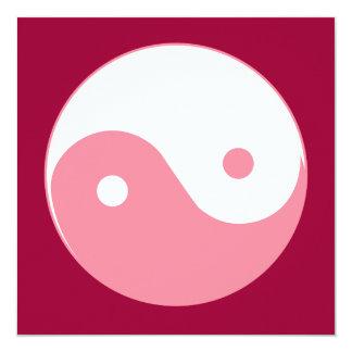 Pink Yin-Yang Symbol Card