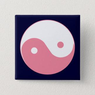 Pink Yin-Yang Symbol Pinback Button