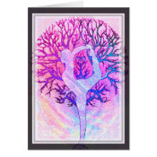 Pink Yoga Tree Woman in Pastel Colors Card (<em>$3.15</em>)