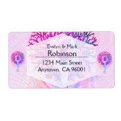 Pink Yoga Tree Woman in Pastel Colors Label (<em>$3.15</em>)