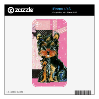 PINK YORKIE POO SKINS FOR THE iPhone 4