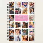 """Pink Your Photos Insta Collage 2019 Planner<br><div class=""""desc"""">Photo insta collage pink planner featuring 22 photos of your family and friends,  your name,  and the year.</div>"""