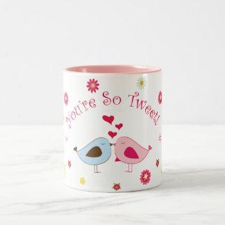 Pink You're so Tweet Cute Love Birds Mug