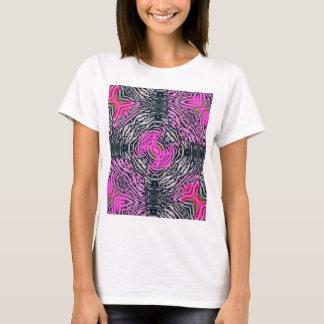Pink Zebra Abstract T-Shirt