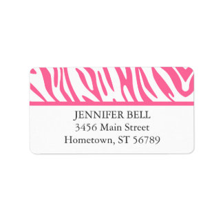 Pink Zebra Address Label