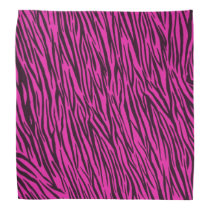 Pink Zebra Animal Print Bandana