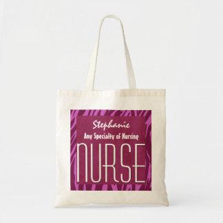 Pink Zebra ANY NURSING SPECIALITY Nurse Custom V01 Tote Bag