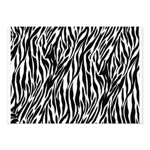 Pink Zebra Baby Feet Print Baby Shower Invitation (back side)