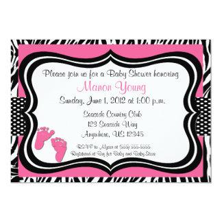 zebra print baby shower invitations  announcements  zazzle, Baby shower invitations