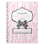 Pink Zebra- Baby Shower Guest Book- Note Book