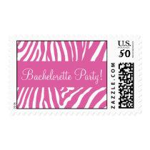 Pink Zebra Bachelorette Party Postage