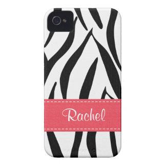 Pink Zebra Blackberry Bold Case Cover