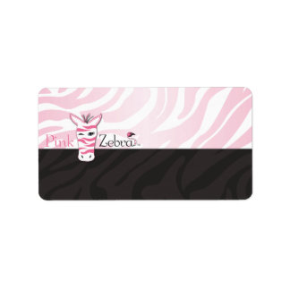 Pink Zebra Blank Personalized Address Label
