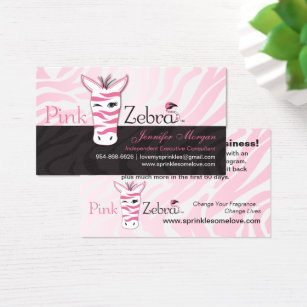 Pink zebra stripe business cards templates zazzle pink zebra business cards colourmoves