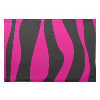 Pink zebra cloth placemat
