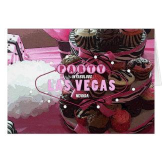 Pink /Zebra Cupcakes Las Vegas PARTY Card