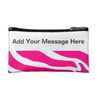 Pink Zebra Custom Cosmetics Bags