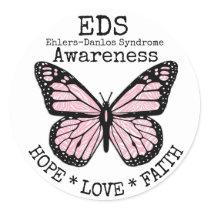 PInk Zebra Ehlers-Danlos syndrome EDS Sticker