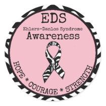 Pink Zebra Hope & Strength EDS Sticker