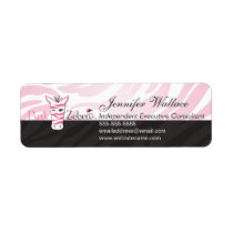 Pink Zebra Label