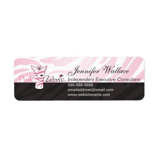 Pink Zebra Label | Zazzle