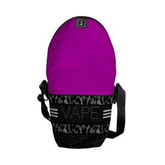 Pink Zebra Leopard Vape Rickshaw Messenger Bag