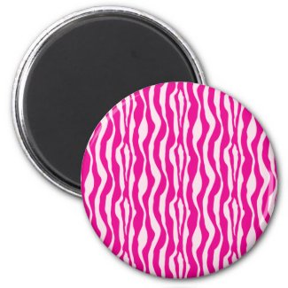Pink Zebra magnet