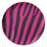 Pink Zebra melanine plate