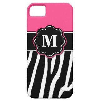 Pink Zebra Monogram Phone Case iPhone 5 Covers