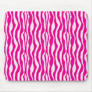 Pink Zebra Mouse Pad