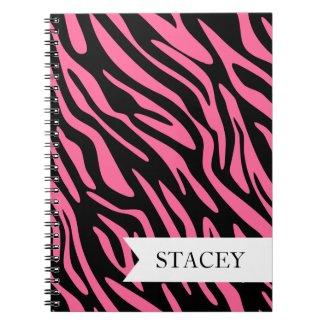 Pink Zebra Notebook notebook