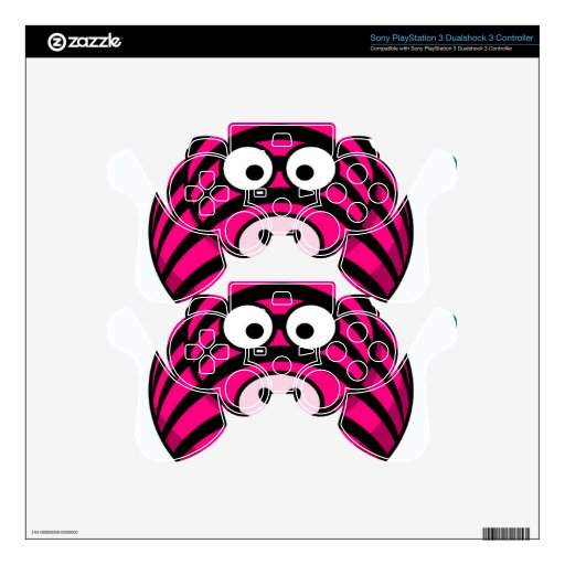 gallery for gt pink zebra ps3 controller
