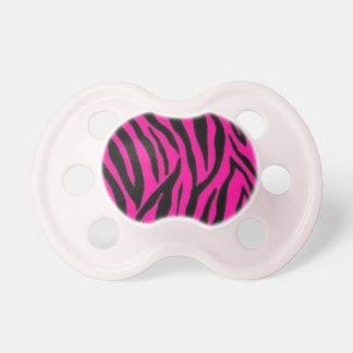 Pink Zebra Pacifier BooginHead Pacifier