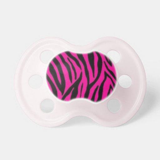 Pink Zebra Pacifier