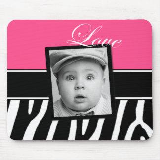 Pink Zebra Photo Mousepad