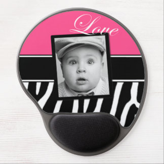 Pink Zebra Photo Mousepad Gel Mouse Pad