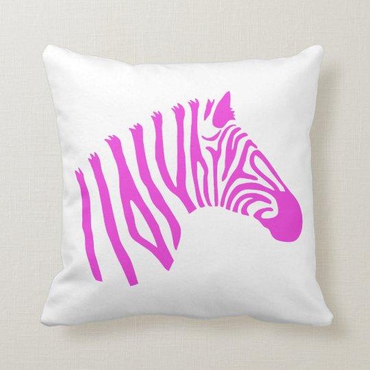 Pink Zebra Pillow