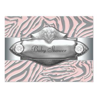 Pink Zebra Pink Zebra Baby Girl Shower Card