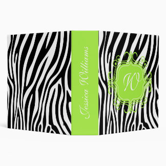 Pink & Zebra Print 3 Ring Binder