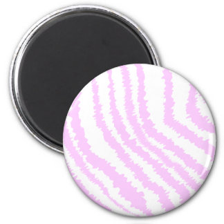 Pink Zebra Print, Animal Pattern. 2 Inch Round Magnet