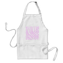 Pink Zebra Print, Animal Pattern. Adult Apron