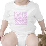 Pink Zebra Print, Animal Pattern. Baby Bodysuit