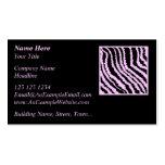Pink Zebra Print, Animal Pattern. Business Card Templates