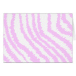 Pink Zebra Print, Animal Pattern. Card