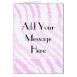 Pink Zebra Print, Animal Pattern. Cards
